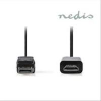 NEDIS DisplayPort Male to HDMI Male 2m Black