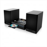 Mini Hi-Fi με CD player, FM ράδιο, σύνδεση Bluetooth και αναπαραγωγή από USB stick, 50W Black